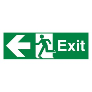 Exit Arrow Left - Landscape