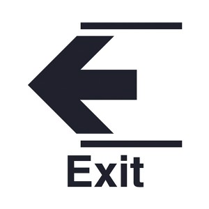 Exit Arrow Left - Square