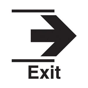 Exit Arrow Right - Square