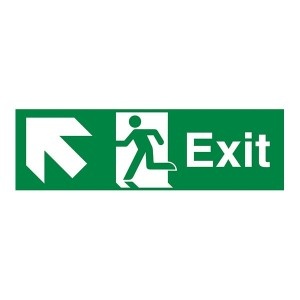 Exit Arrow Up And Left - Landscape