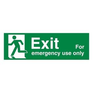 Exit For Emergency Use Only Left - Landscape