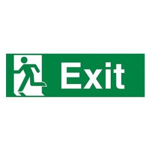 Exit Running Man Left - Landscape