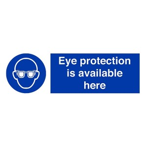 Eye Protection Is Available Here - Landscape