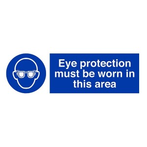 Eye Protection Must Be Worn In This Area - Landscape