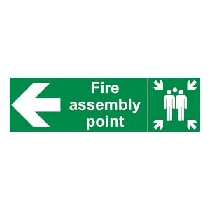 Fire Assembly Point - Arrow Left - Landscape