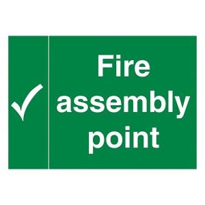 Fire Assembly Point - Landscape - Large