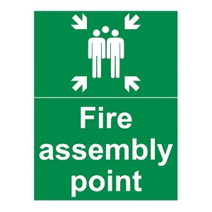 Fire Assembly Point - With Family - Portrait