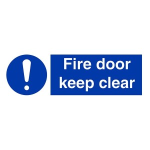 Fire Door Keep Clear - Landscape