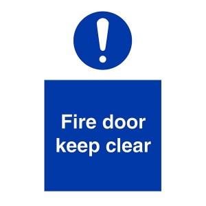 Fire Door Keep Clear - Portrait