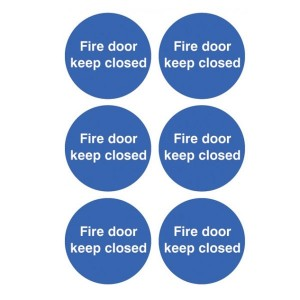 Fire Door Keep Closed Stickers - Circular