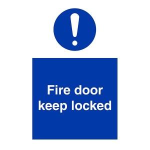Fire Door Keep Locked - Portrait