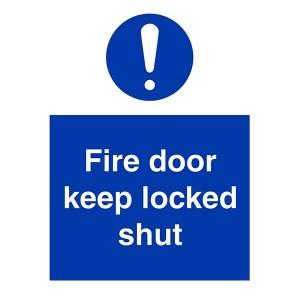 Fire Door Keep Locked Shut - Portrait