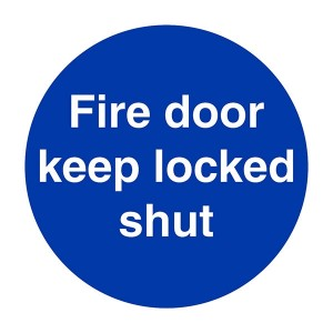 Fire Door Keep Locked Shut - Square
