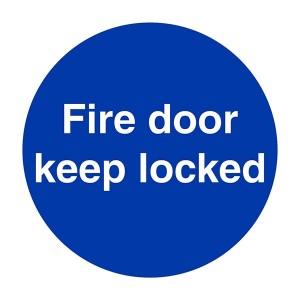 Fire Door Keep Locked - Square