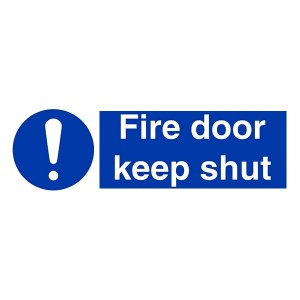 Fire Door Keep Shut - Landscape