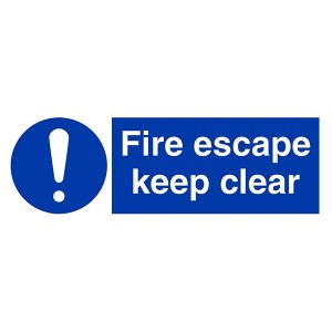 Fire Escape Keep Clear - Landscape