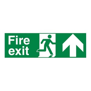Fire Exit Arrow Up - Landscape