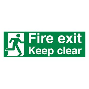 Fire Exit / Keep Clear Man Right - Landscape