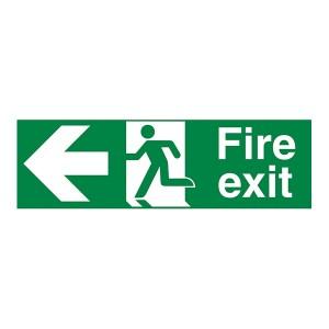 Fire Exit Arrow Left - Landscape
