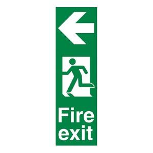 Fire Exit Arrow Left - Portrait