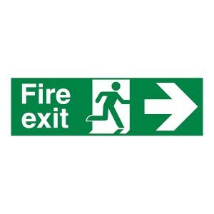 Fire Exit Arrow Right - Landscape