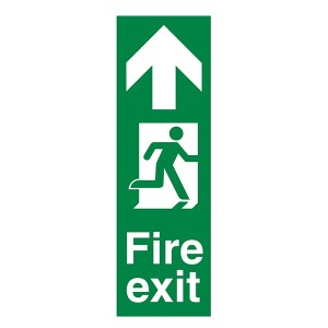Fire Exit Arrow Up - Portrait