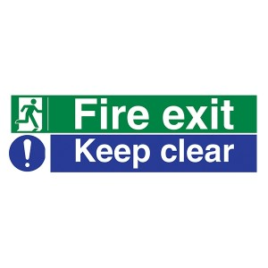 Fire Exit / Keep Clear - Landscape