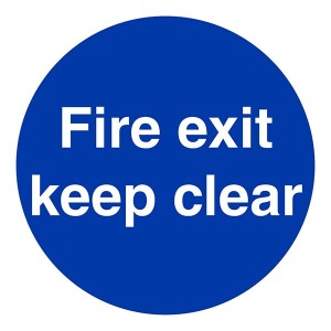 Fire Exit Keep Clear - Square