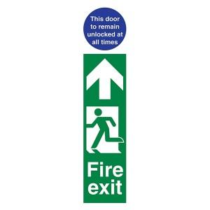 Fire Exit Man Left / Door Remain Unlocked - Portrait