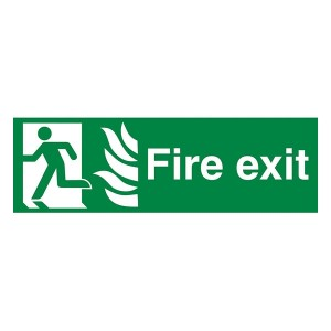NHS Fire Exit Man Left - Landscape