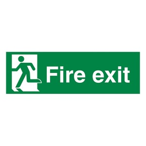 Fire Exit Man Left - Landscape