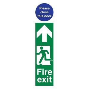 Fire Exit Man Left / Please Close This Door - Portrait