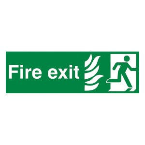NHS Fire Exit Man Right - Landscape