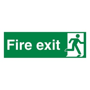 Fire Exit Man Right - Landscape