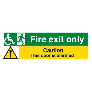 Fire Exit Only Caution This Door Is Alarmed - Landscape