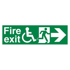 Fire Exit Wheel Chair Man Right Arrow Right - Landscape