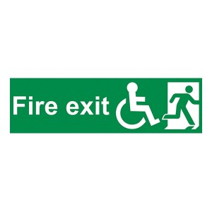 Fire Exit Wheel Chair Man Right - Landscape
