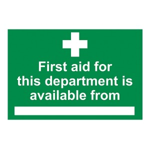 First Aid For This Department Is Available From - Landscape - Large