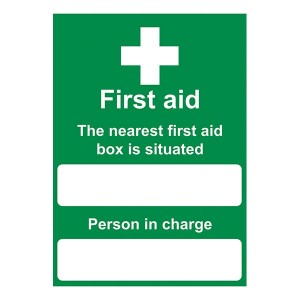 First Aid - The Nearest First Aid Box Is Situated - Portrait