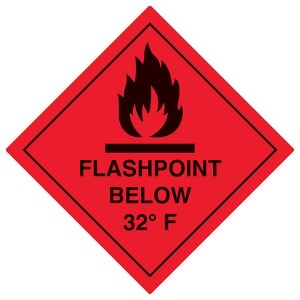 Flashpoint Below 32F - Red - Diamond - Square