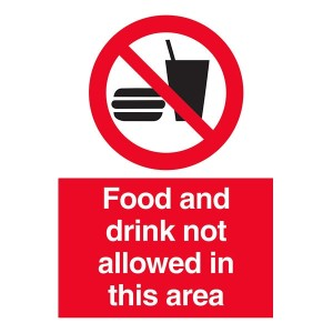 Food And Drink Not Allowed In This Area - Portrait