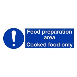Food Preparation Area - Cooked Food Only - Landscape