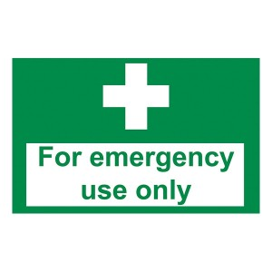 First Aid - For Emergency Use Only - Landscape - Large
