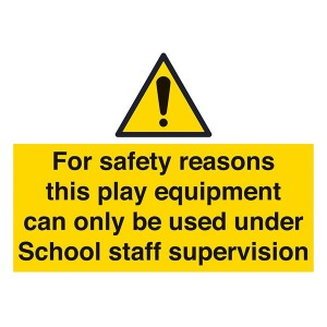 Play Equipment Only Under Staff Supervision - Landscape - Large