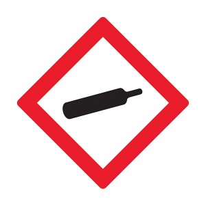 Gas Under Pressure Symbol - Diamond - Square