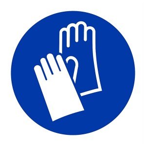 Gloves Symbol - Square