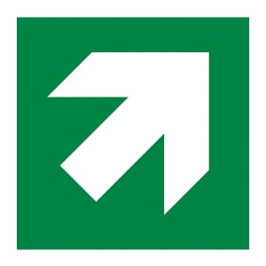 Green Diagonal Arrow Up Right - Square