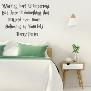 Harry Potter quote - Working hard is important - Bedroom Vinyl Wall Art