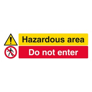 Hazardous Area / Do Not Enter - Landscape