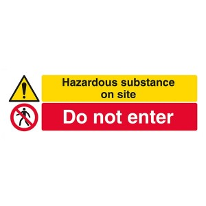 Hazardous Substance On Site / Do Not Enter - Landscape